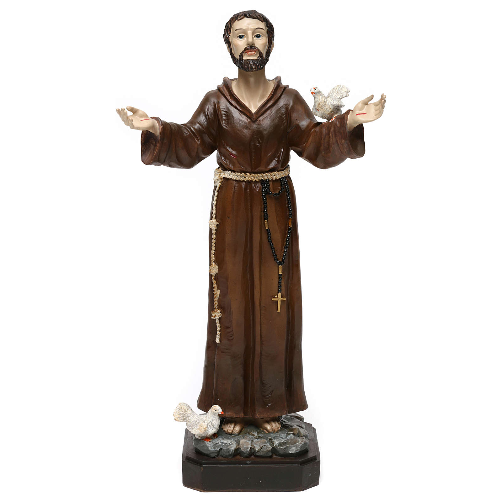 San Francesco h 30 cm statua in resina 4