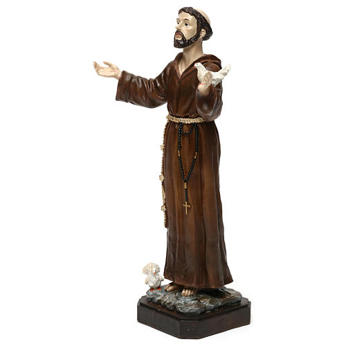 San Francesco h 30 cm statua in resina 3