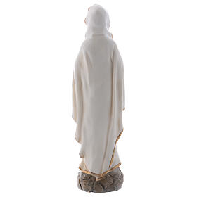 Our Lady of Lourdes statue in resin 20 cm s5