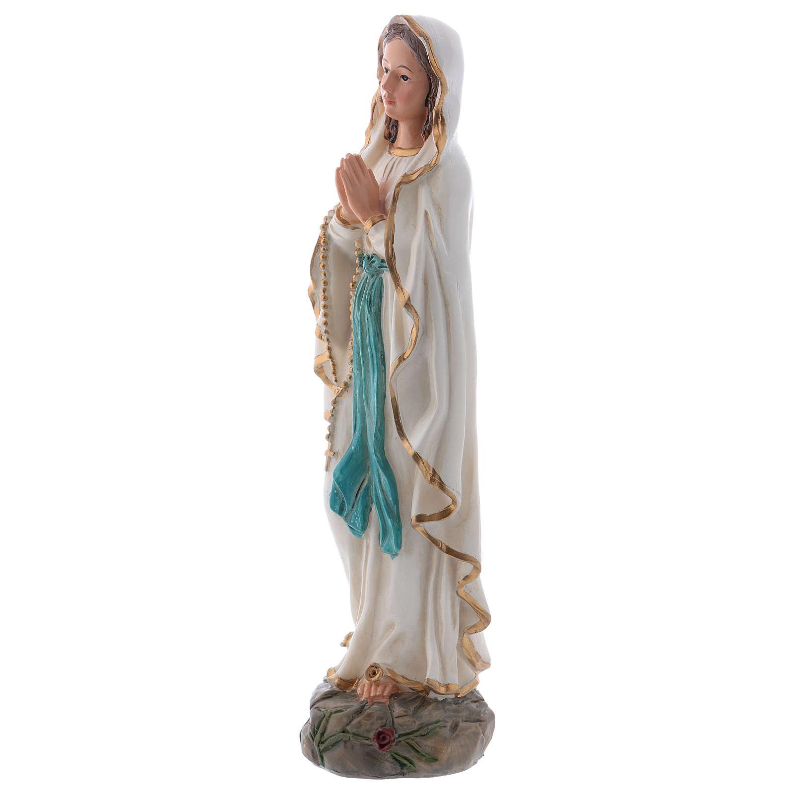 Notre-Dame de Lourdes 20 cm statue résine 4
