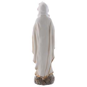 Nossa Senhora Lourdes 20 cm imagem resina s5