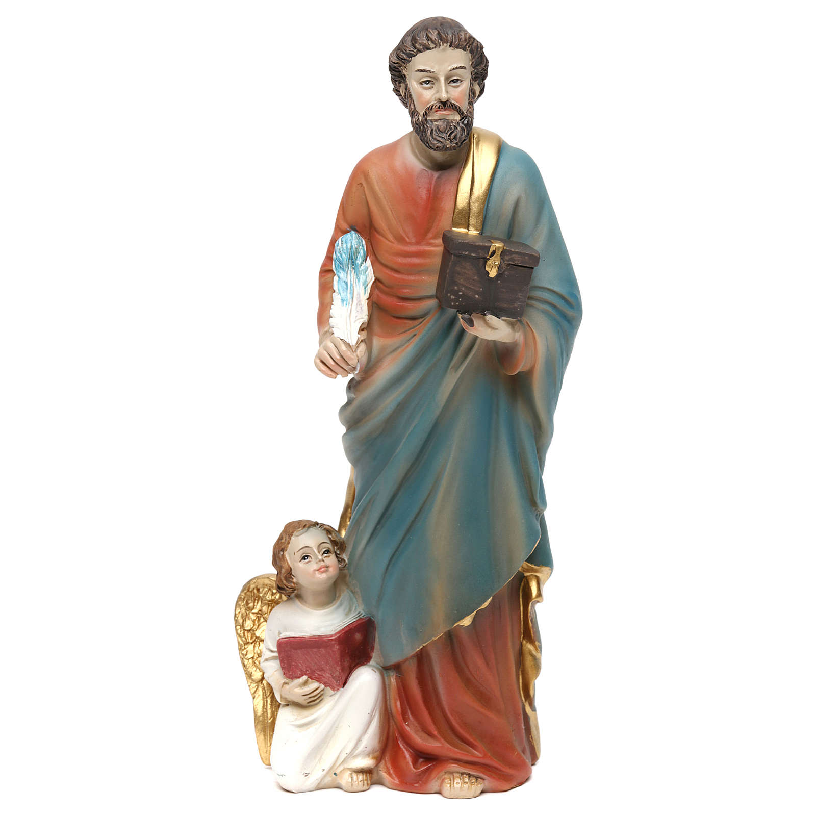 Statue résine Saint Mathieu Évangéliste 20 cm 4