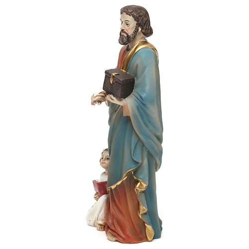 Statue résine Saint Mathieu Évangéliste 20 cm 3