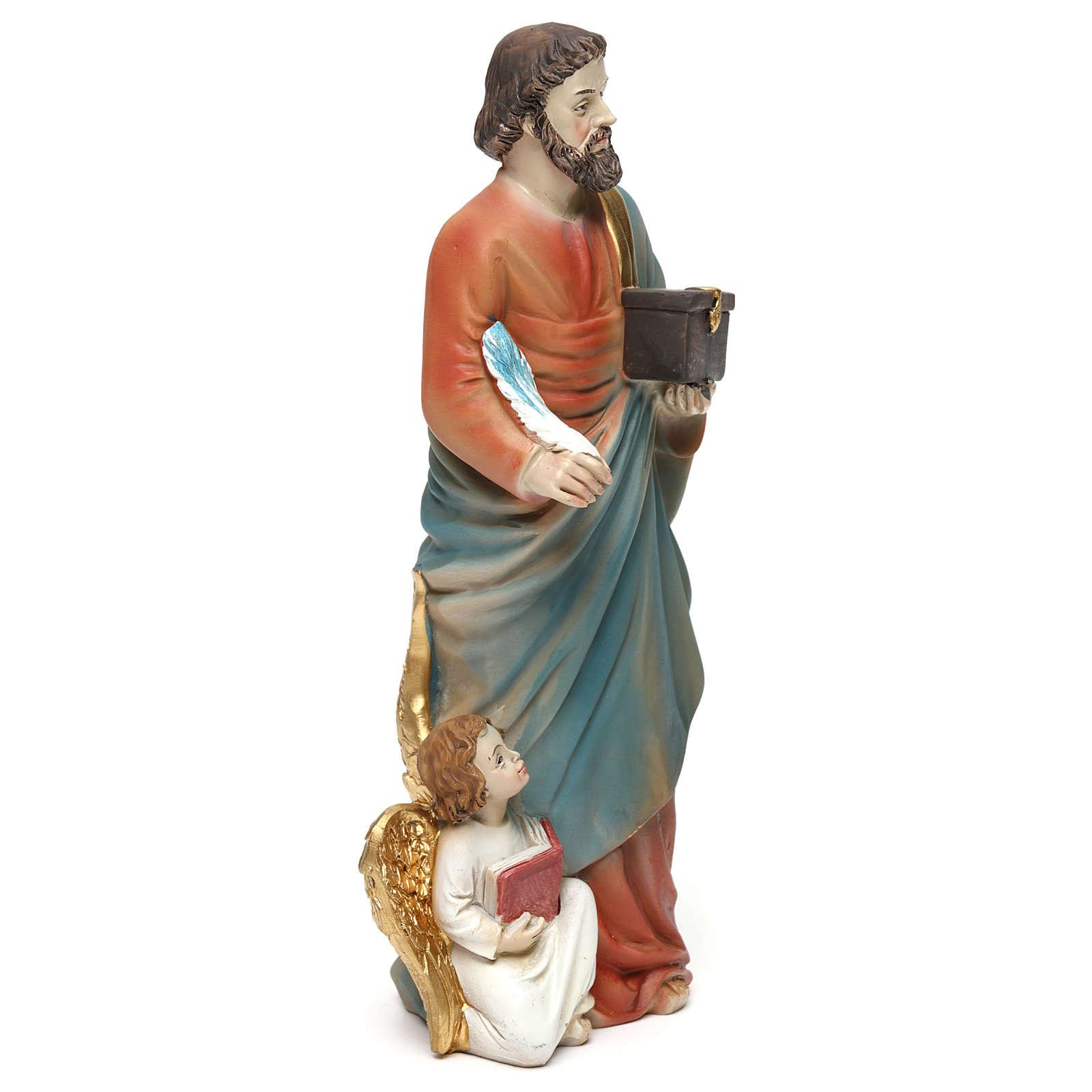 Statua resina San Matteo Evangelista 20 cm  4