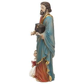 Statua resina San Matteo Evangelista 20 cm  s3