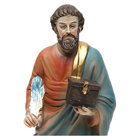 Statue of Saint Matthew the Evanglelist, 20 cm in resin s2