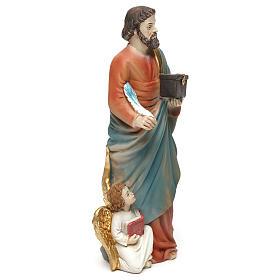 Statue of Saint Matthew the Evanglelist, 20 cm in resin s4