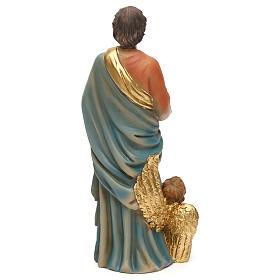 Statue of Saint Matthew the Evanglelist, 20 cm in resin s5