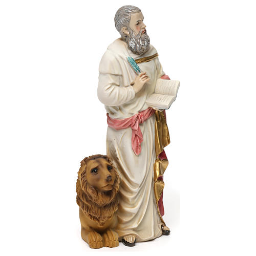Statue résine Saint Marc Évangéliste 20 cm 4