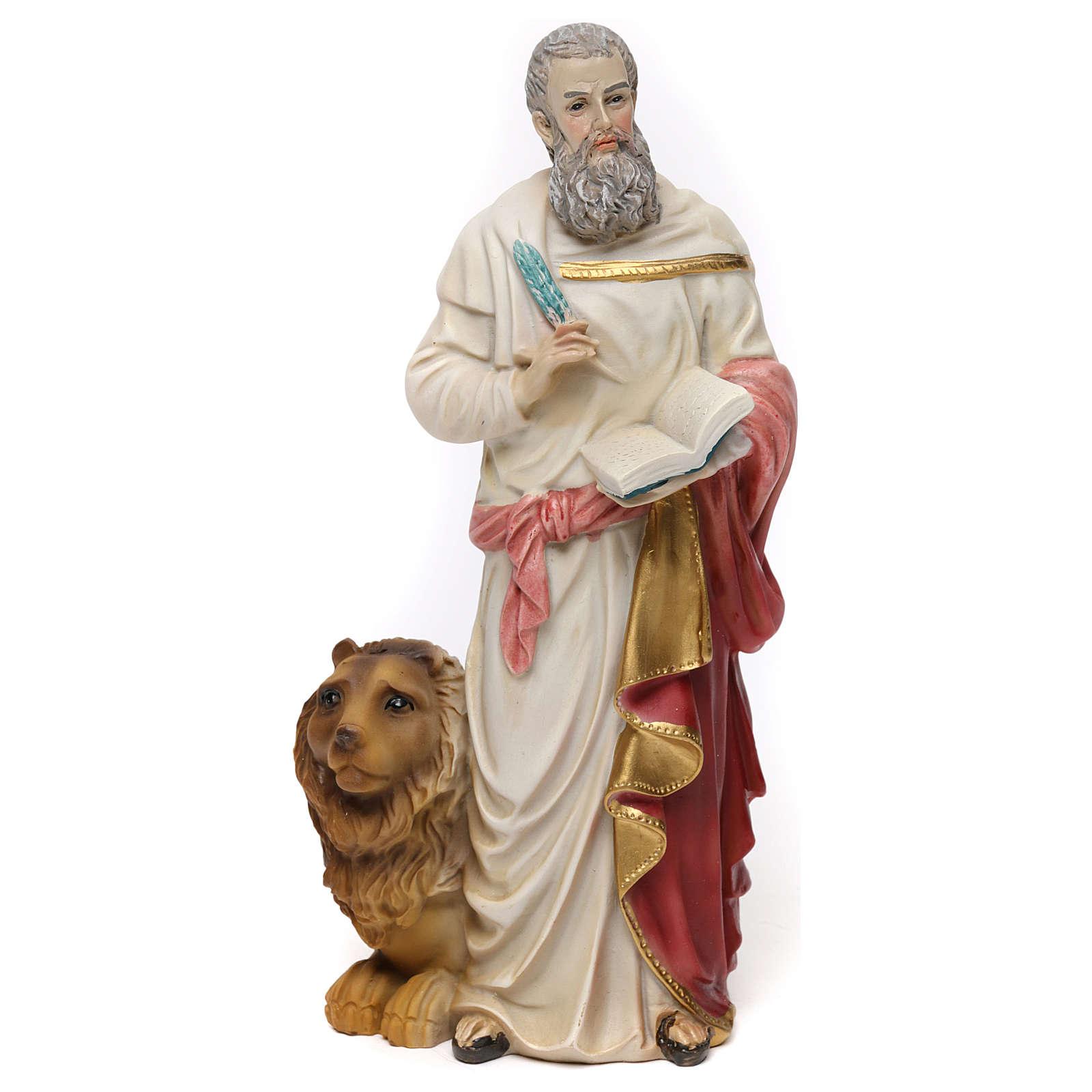 Statua resina San Marco Evangelista 20 cm  4