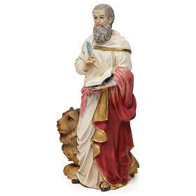 Statua resina San Marco Evangelista 20 cm  s3