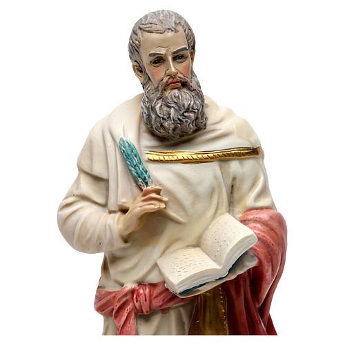 Statua resina San Marco Evangelista 20 cm  2