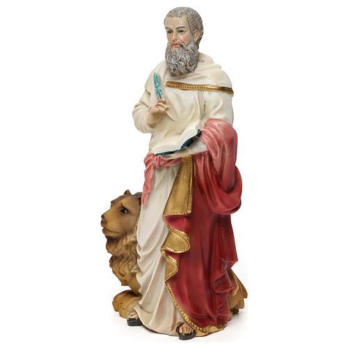 Statua resina San Marco Evangelista 20 cm  3