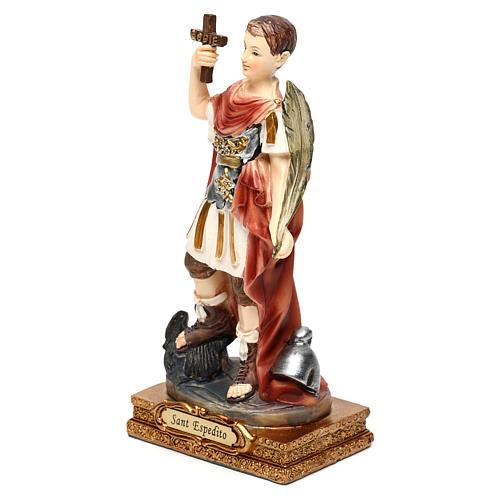 San Expedito 14 cm estatua resina 2
