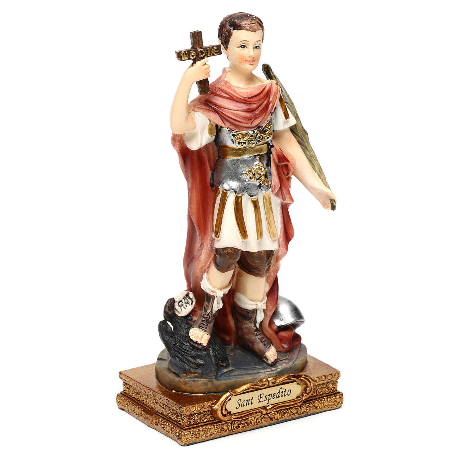 Santo Espedito 14 cm statua resina 4
