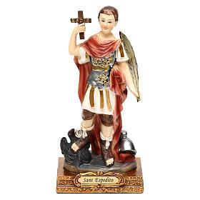 Santo Espedito 14 cm statua resina s1