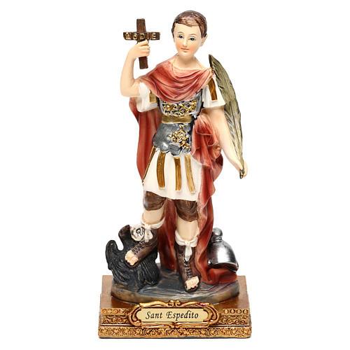 Santo Espedito 14 cm statua resina 1