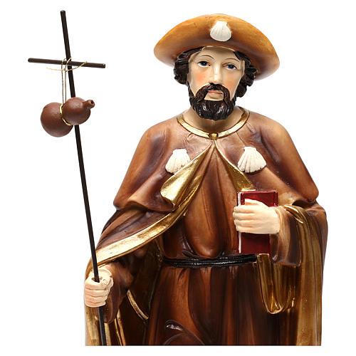 San Giacomo Apostolo 20 cm statua in resina 2