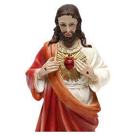 Sacred Heart of Jesus statue in resin 20 cm s2