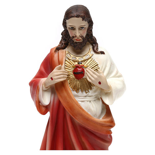 Sacred Heart of Jesus statue in resin 20 cm 2