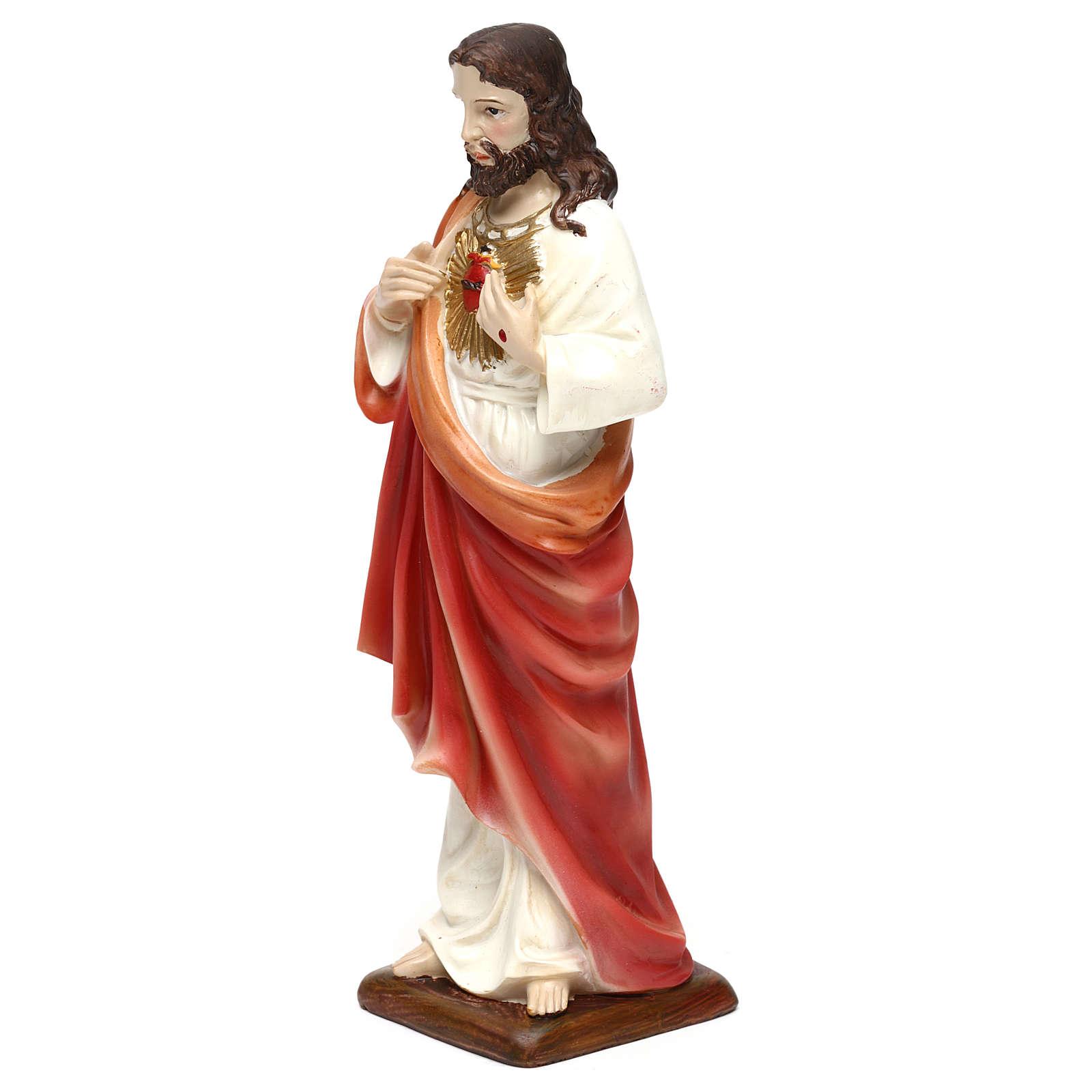 Sacré-Coeur de Jésus résine h 20 cm 4