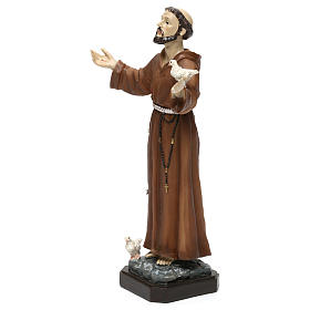 St. Francis statue in resin 20 cm s3