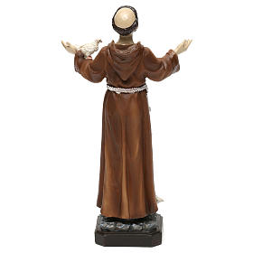 St. Francis statue in resin 20 cm s5