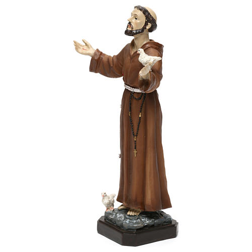 St. Francis statue in resin 20 cm 3