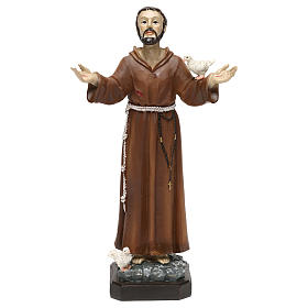 Statua in resina San Francesco 20 cm  s1