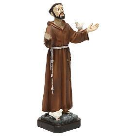 Statua in resina San Francesco 20 cm  s4