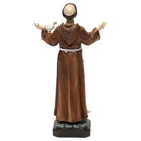 Statua in resina San Francesco 20 cm  s5