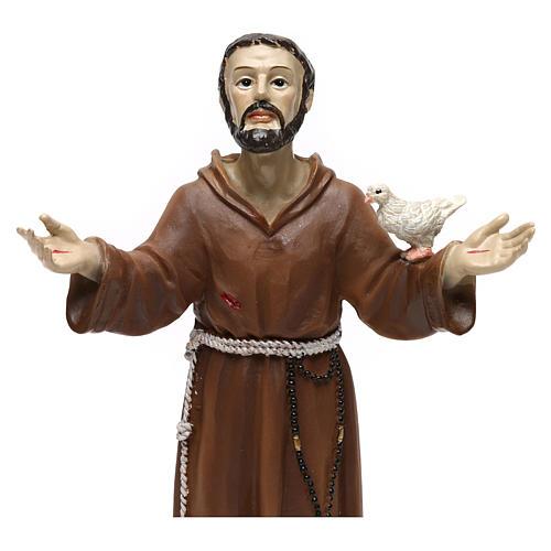 Statua in resina San Francesco 20 cm  2