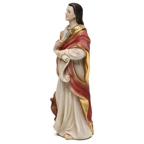 Saint Jean Évangéliste 21 cm statue résine 3