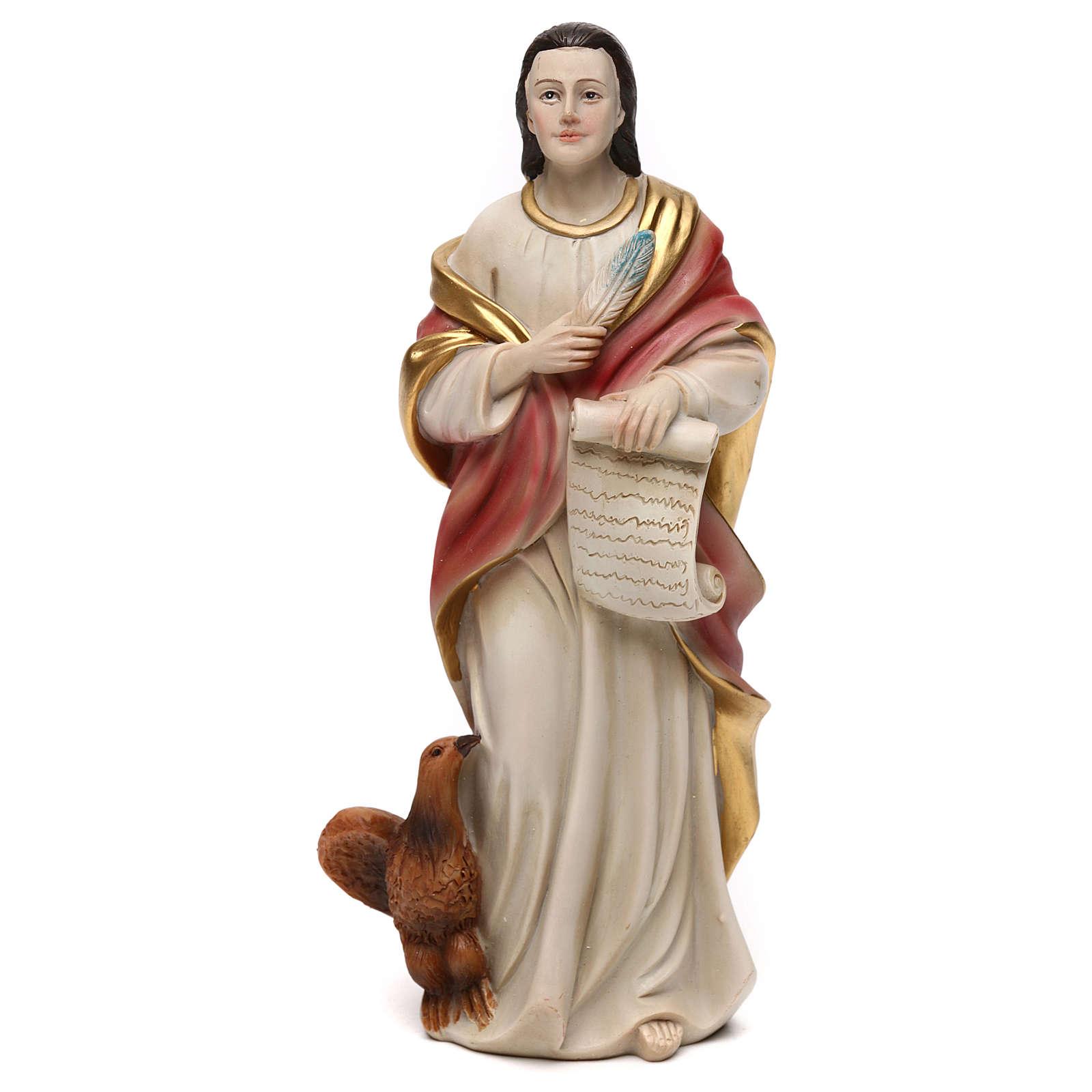 Saint John Evangelist Statue, 21 cm in resin 4
