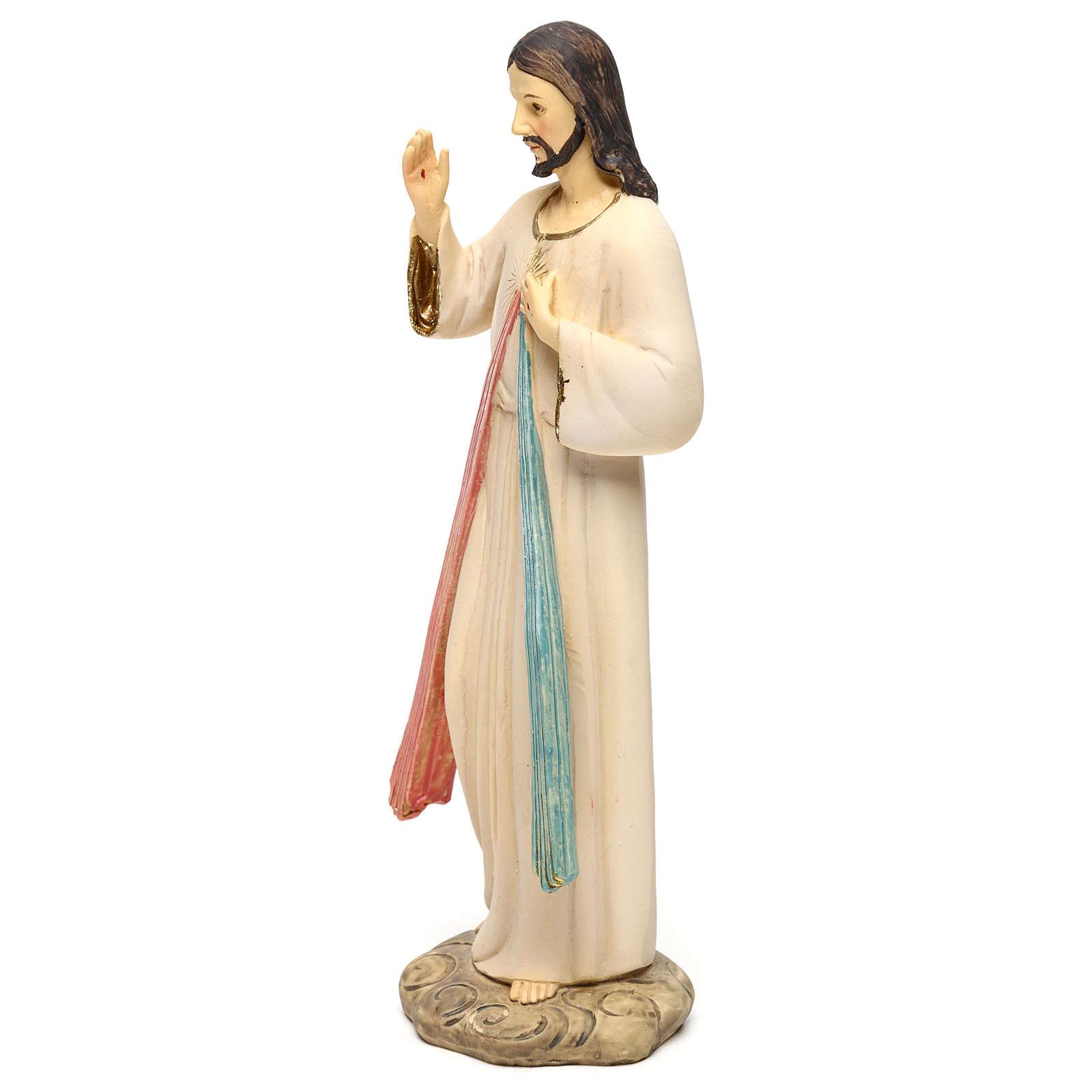 Gesù Misericordioso 21 cm statua resina 4