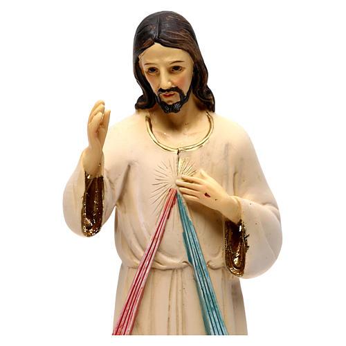 Jezus Miłosierny 21 cm figura żywica 2