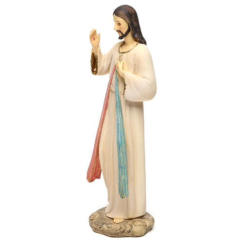 Jezus Miłosierny 21 cm figura żywica 3