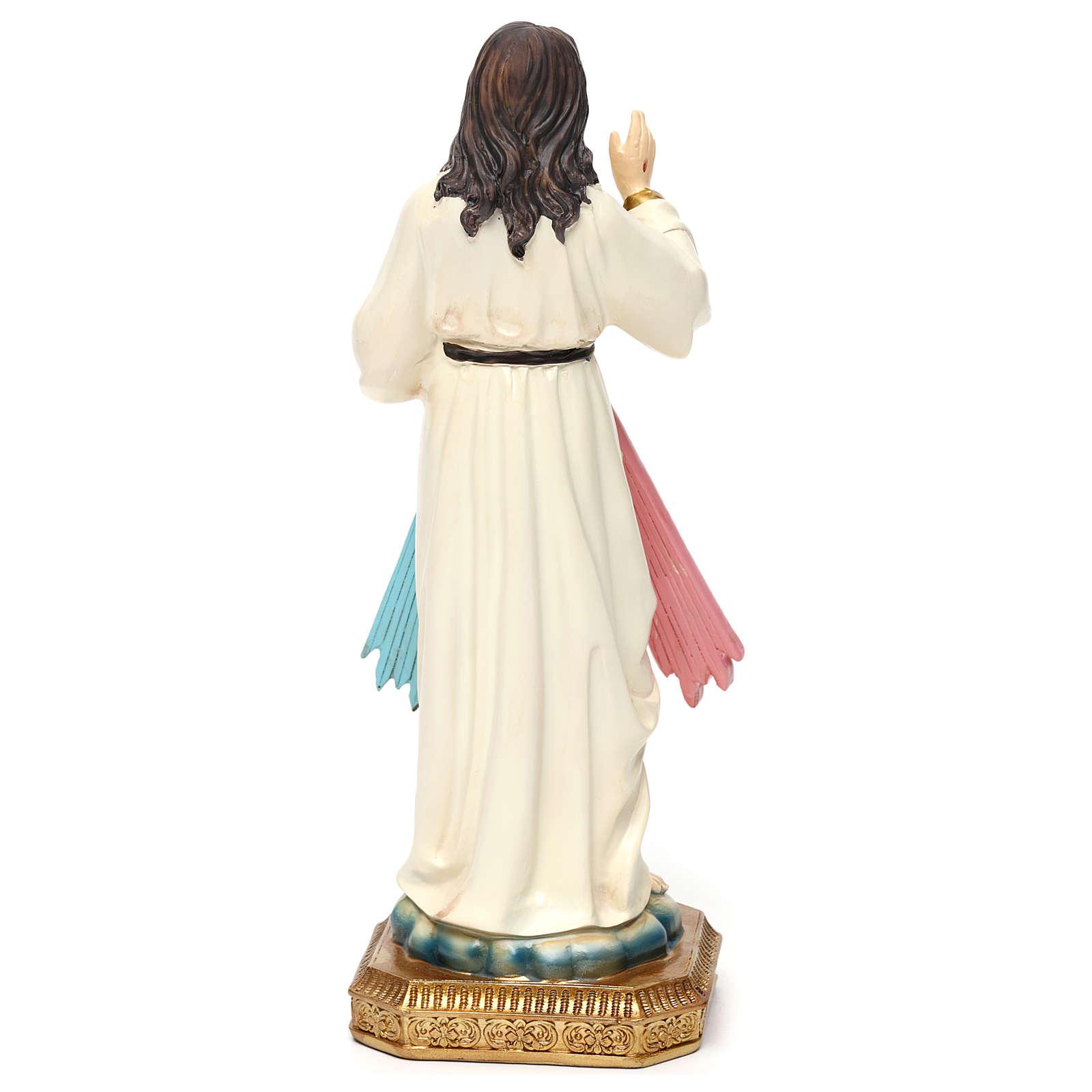Estatua resina Jesús Misericordioso 23 cm 4