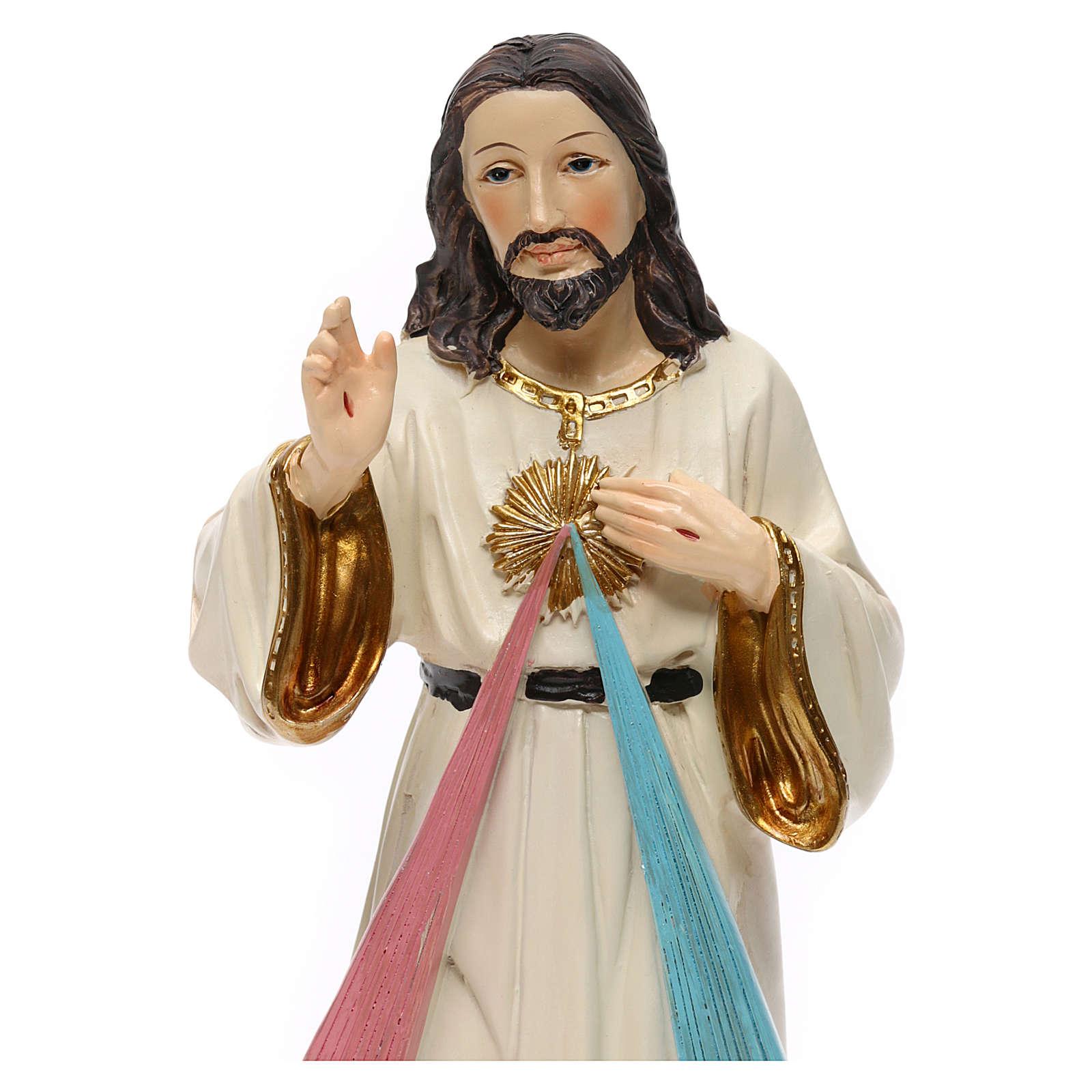 Statua resina Gesù Misericordioso 23 cm 4