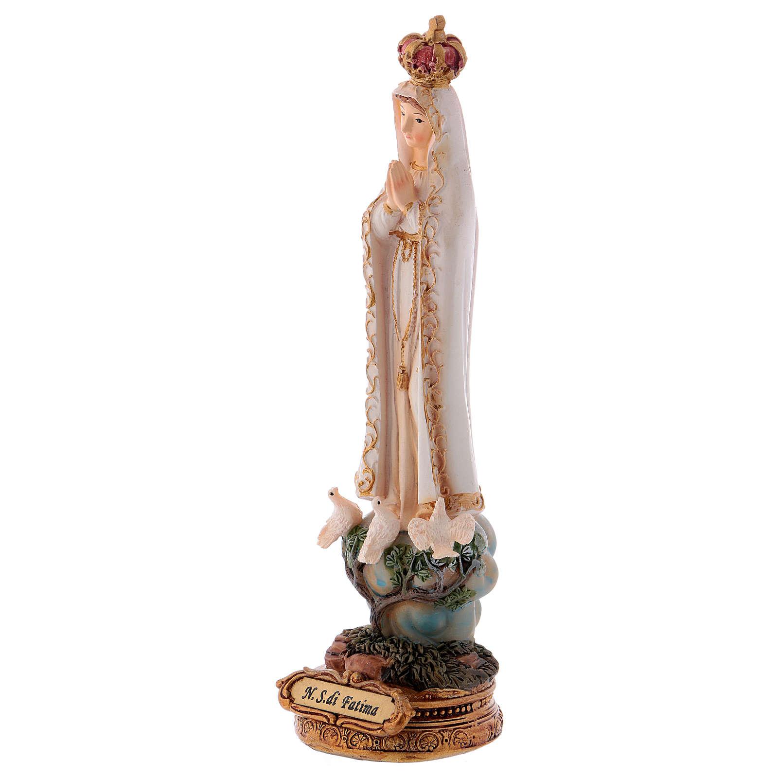 Statua resina Madonna di Fatima 16 cm 4