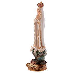 Statua resina Madonna di Fatima 16 cm s2