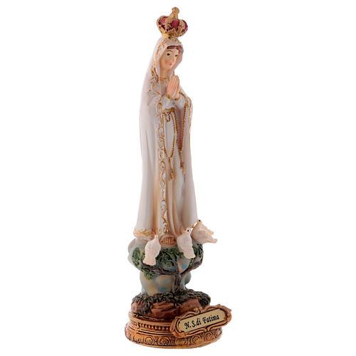 Statua resina Madonna di Fatima 16 cm 3