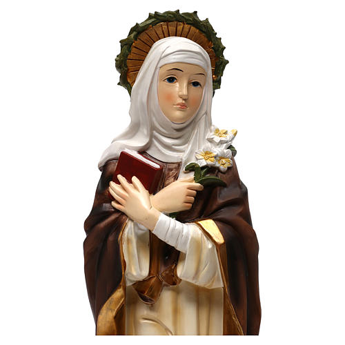 Sainte Catherine de Sienne 40 cm statue résine 2