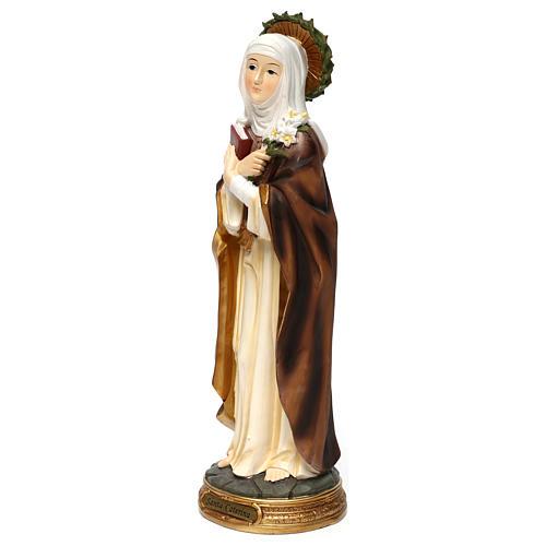 Sainte Catherine de Sienne 40 cm statue résine 3