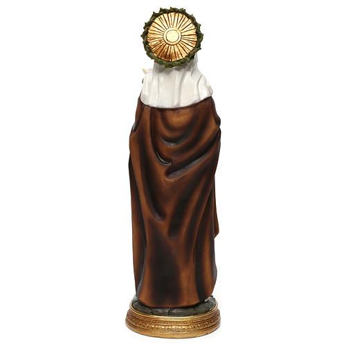 Sainte Catherine de Sienne 40 cm statue résine 5