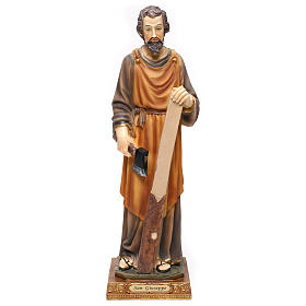 St. Joseph carpenter statue in resin 43 cm s1