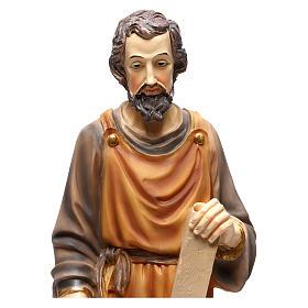 San José carpintero 43 cm resina coloreada s2
