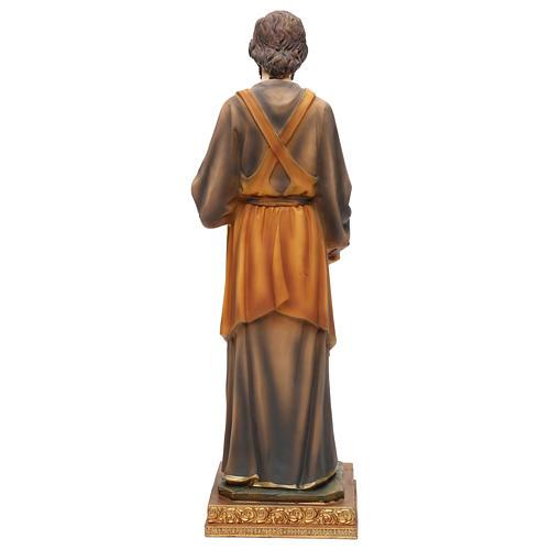 San Giuseppe falegname 43 cm resina colorata 5