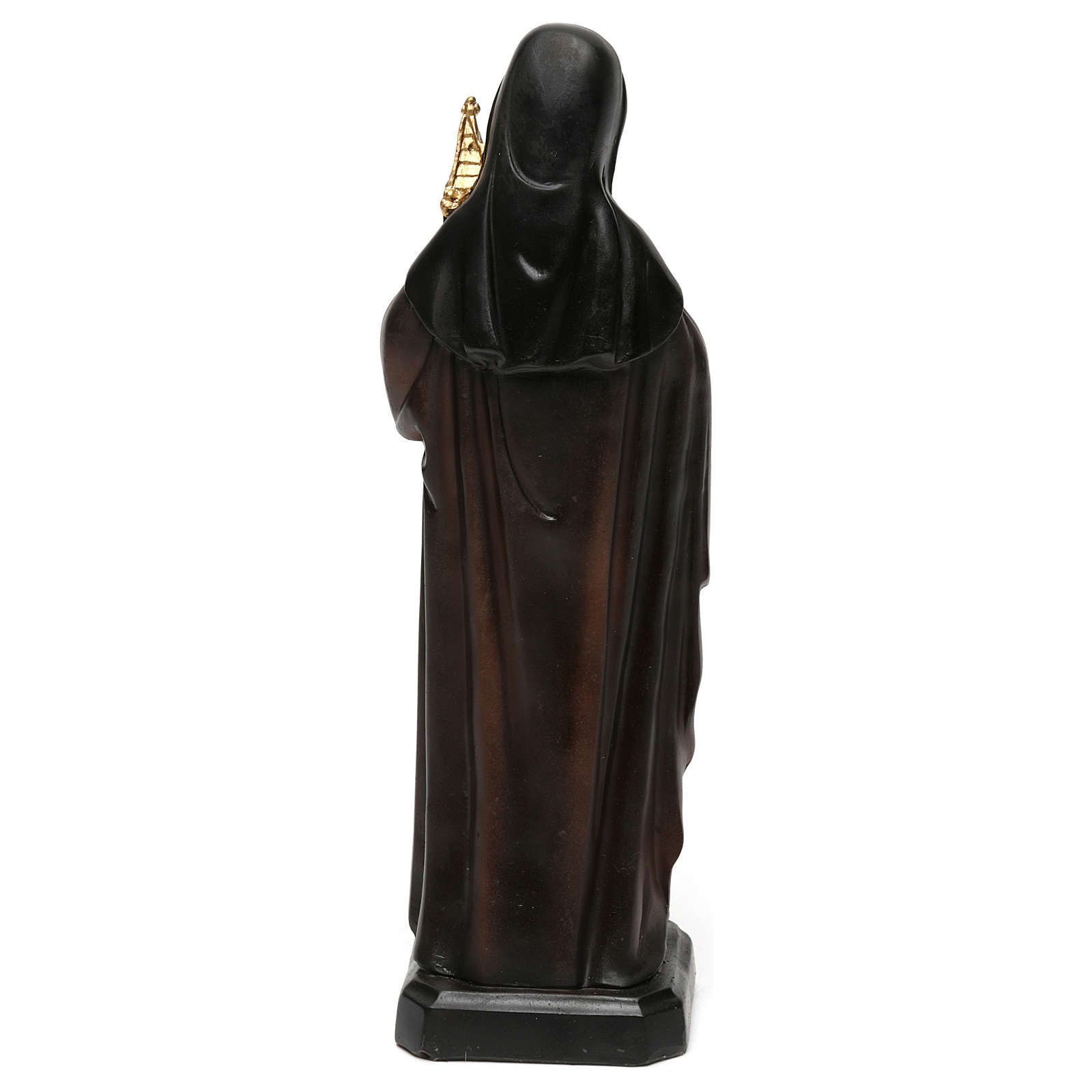 St. Clare statue in resin 20 cm 4