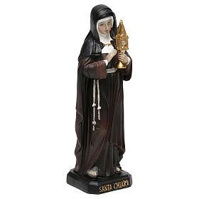 Estatua de resina Santa Clara 20 cm s4